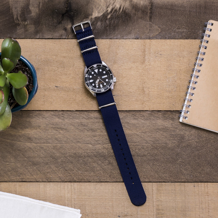 navy-blue-ballistic-nylon-nato-watchband-on-watch