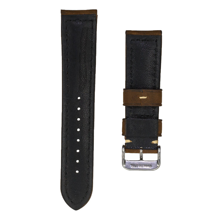 dark-brown-padded-oiled-leather-watchband