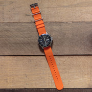orange-silicone-rubber-nato-watchband-on-watch
