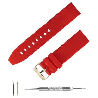 red-silicone-rubber-watchband