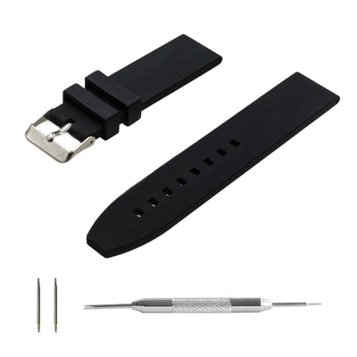 black-silicone-rubber-watchband