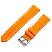 Classic Silicone Quick Release | Orange / White Stitching