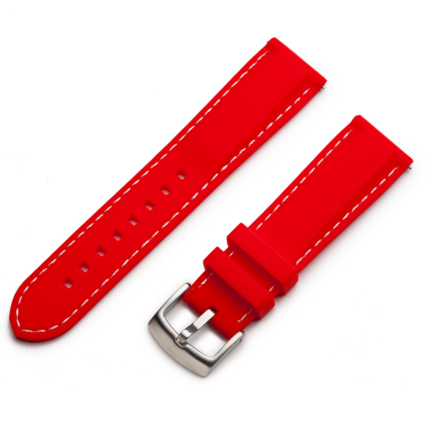 Classic Silicone Quick Release | Red / White Stitching