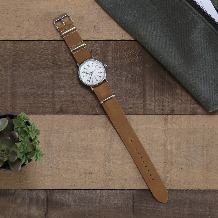 sand-oiled-leather-nato-watchband-on-watch