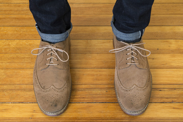Thin Waxed Cotton Laces (2 Pairs) | Tan