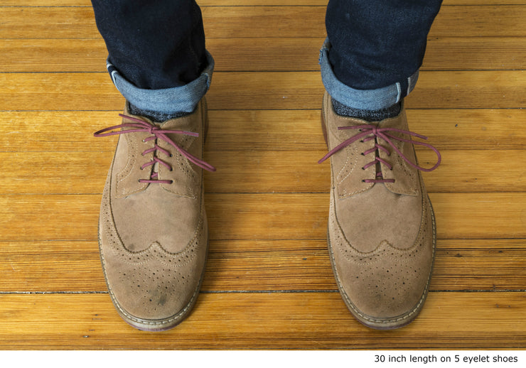 brick-red-round-waxed-cotton-shoelaces-on-shoes
