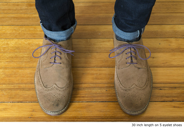 eggplant-purple-round-waxed-cotton-shoelaces-on-shoes