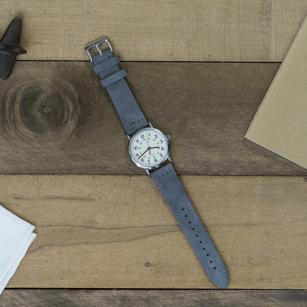 slate-gray-suede-watchband-on-watch