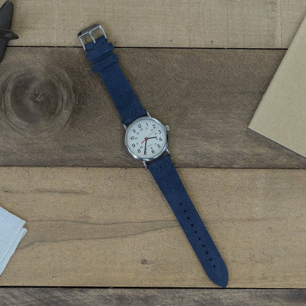 navy-blue-suede-watchband-on-watch