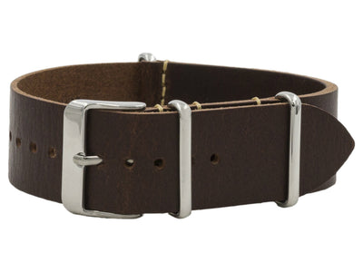 Veg Tan Leather NATO <br> Dark Brown