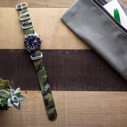 green-black-tan-camo-ballistic-nylon-zulu-watchband-on-watch