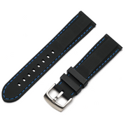 Classic Silicone Quick Release | Black / Blue Stitching