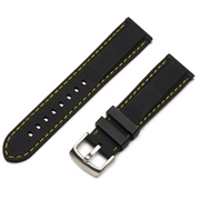 Classic Silicone Quick Release | Black / Yellow Stitching