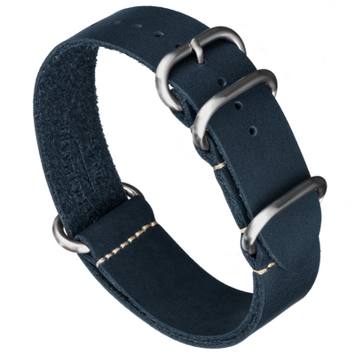 Oiled Leather Zulu | Navy Blue