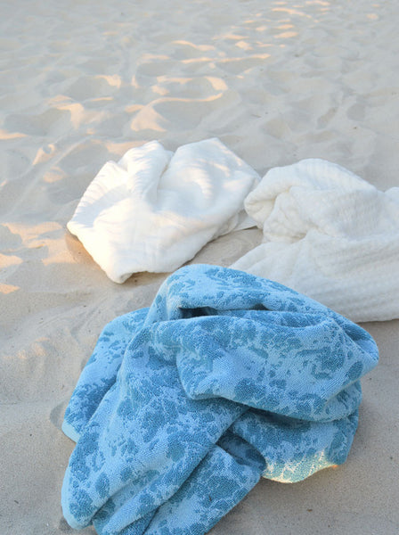Sea Marble Beach Towel