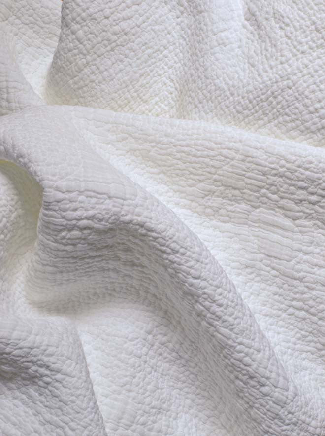 sea foam coverlet white