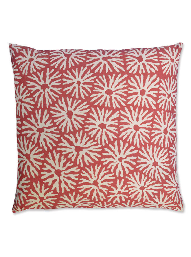 Star Coral Throw Pillow Cover