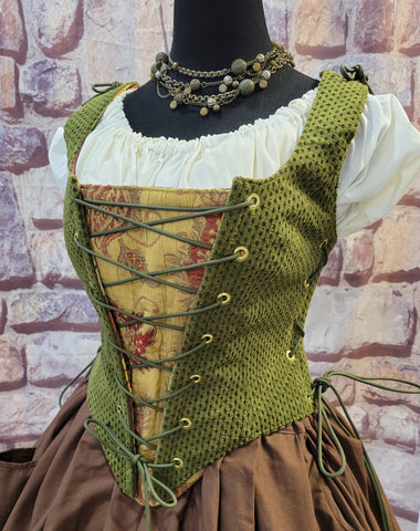 Floral and Plaid Stomacher Group B