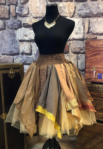 Up-cycled Sari Leaf style Fairy Skirt