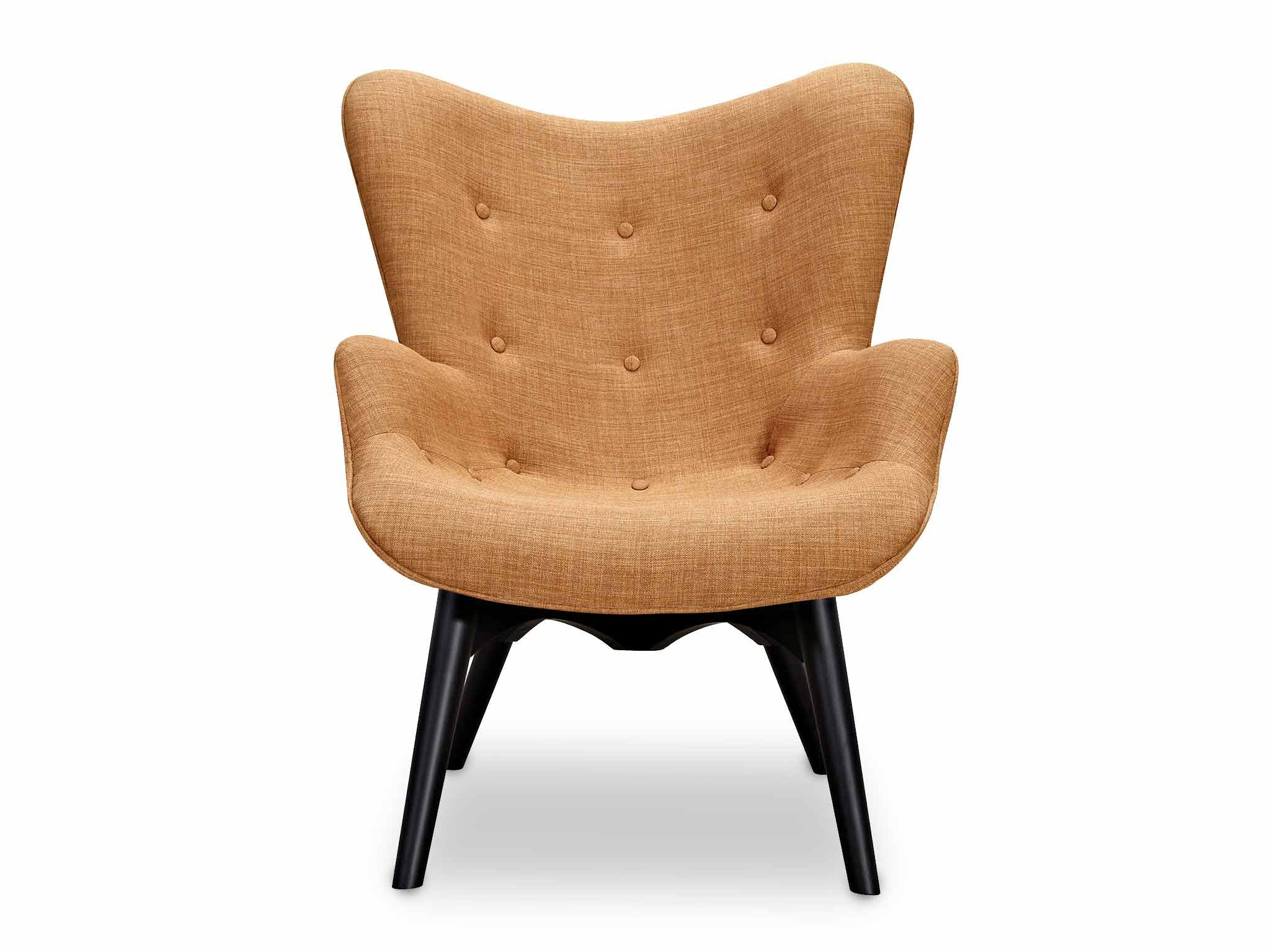 Piece + Parcel - Camel Carter Chair & Ottoman -