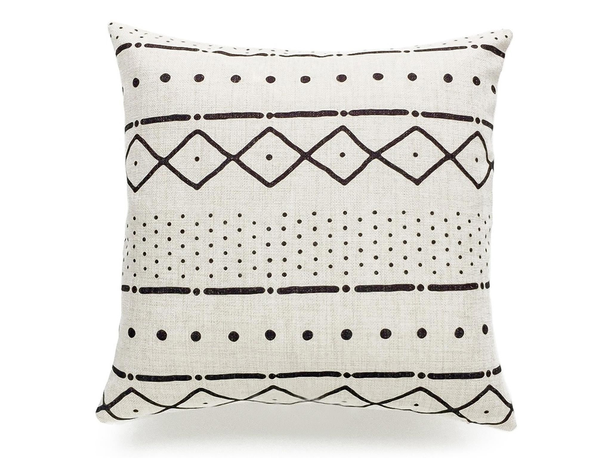 Piece + Parcel - Mudcloth Print Pillow Cover - Natural -