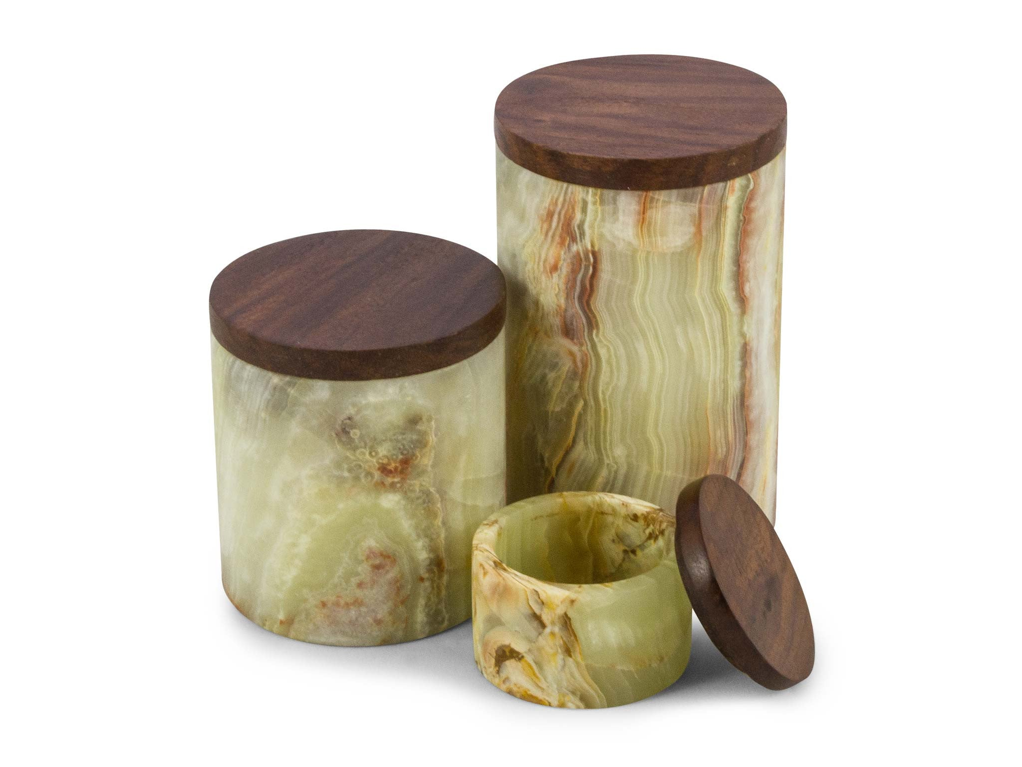 Piece + Parcel - Sunrise Onyx Canisters -