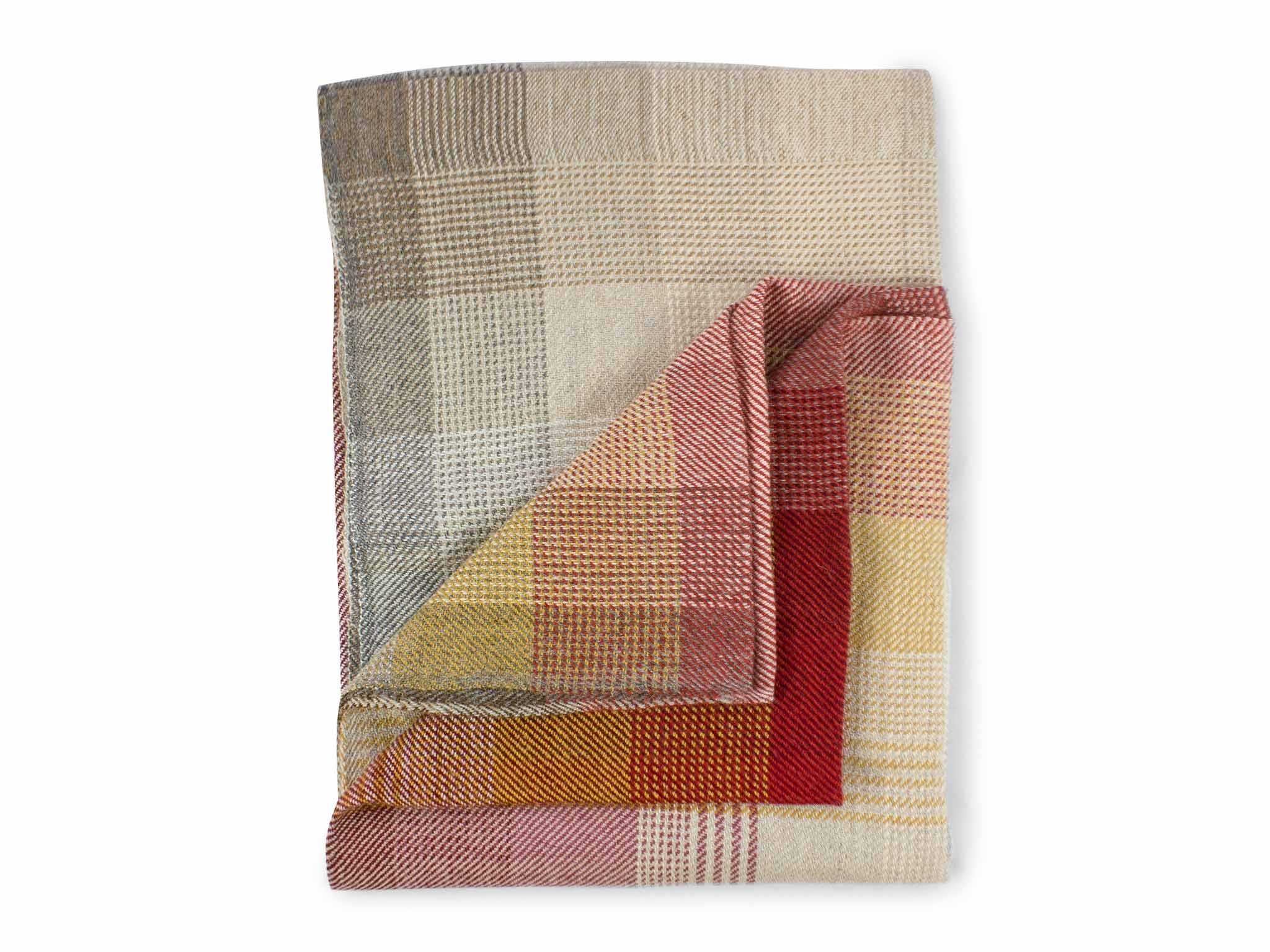 Piece + Parcel - Fire Tartan Fair Trade Throw -