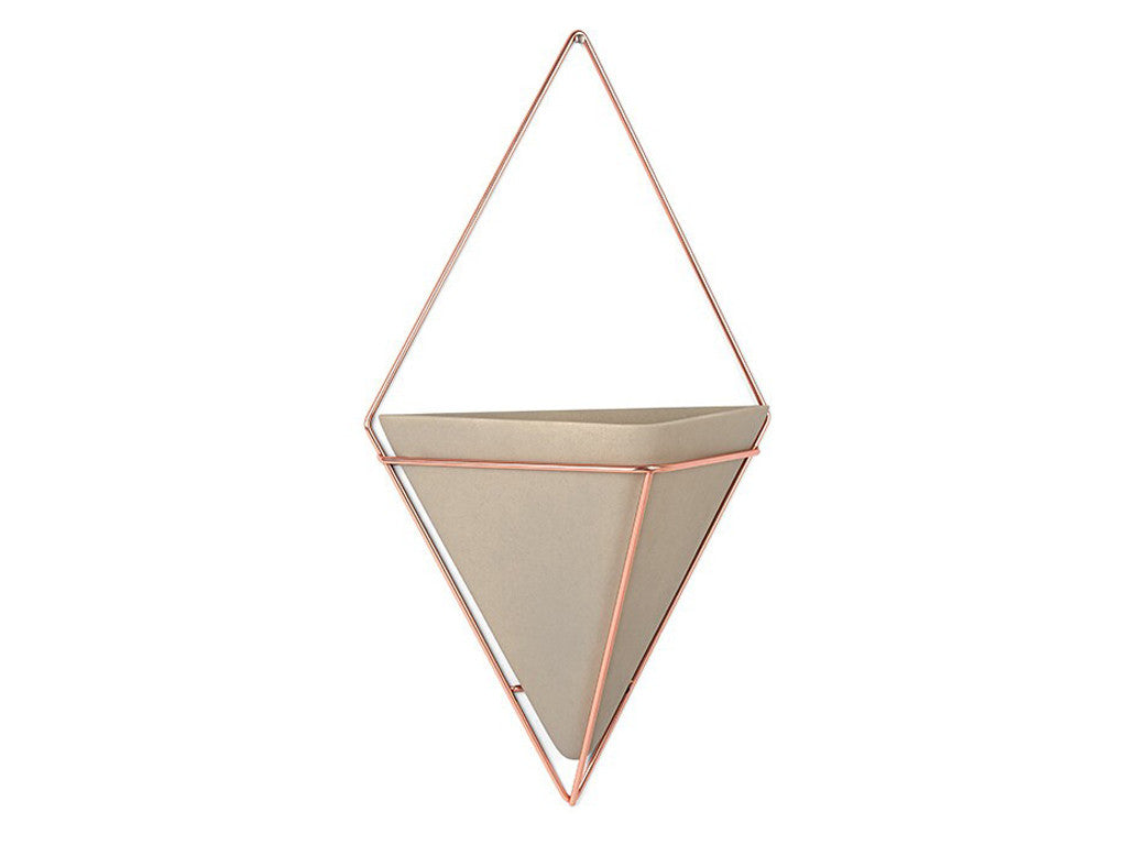 Piece + Parcel - Geometric Wall Pocket Set - Gray & Rose Gold -
