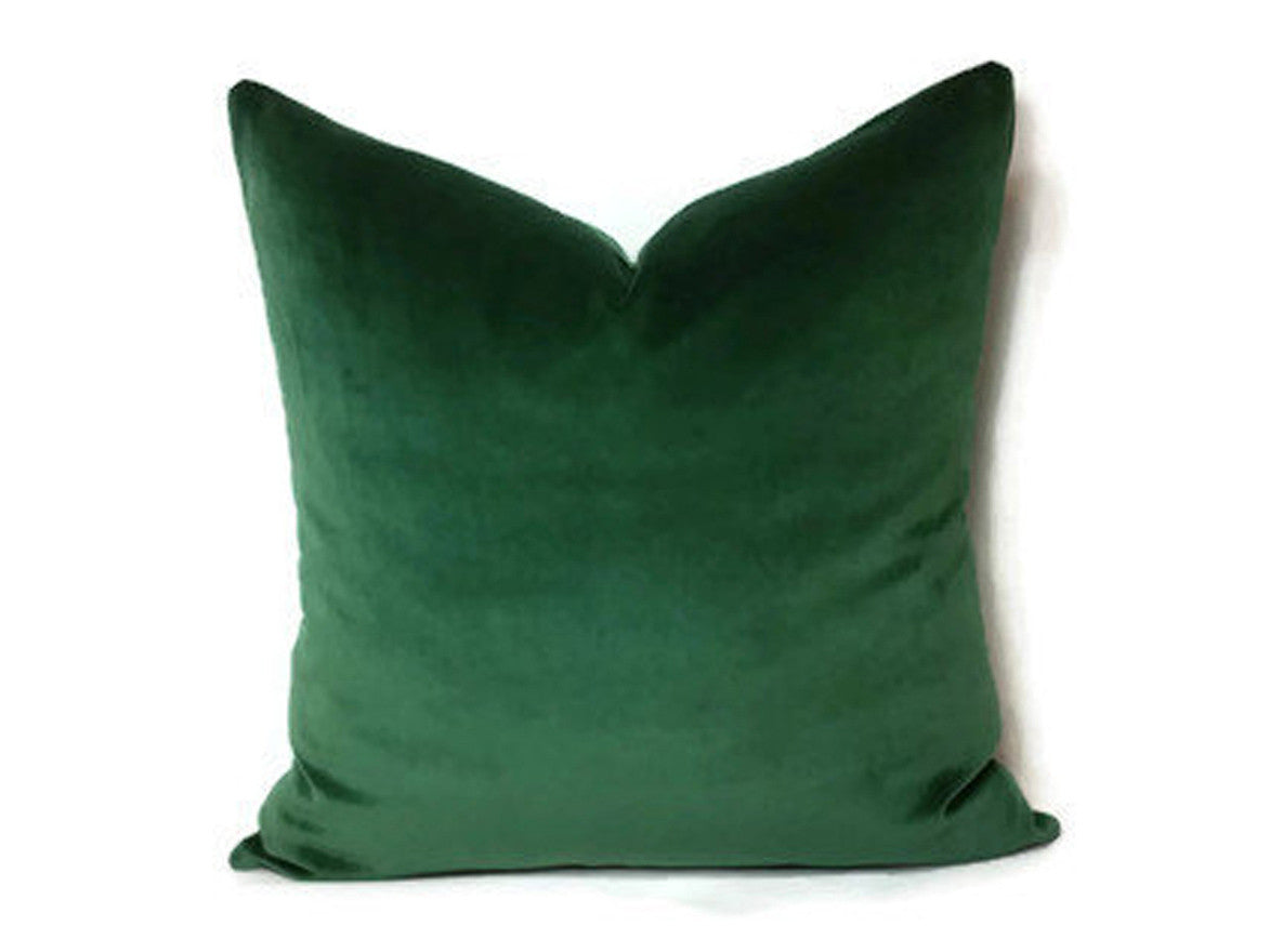 Piece + Parcel - Classica Emerald Velvet Pillow -