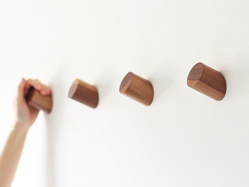 Piece + Parcel - Minimalist Wood Wall Hook -