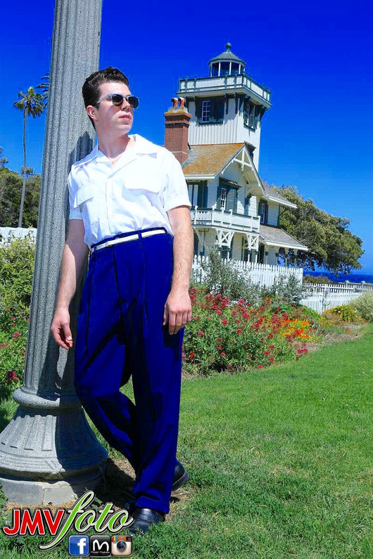 Hollywood High Waisted Trousers - Tarantula Clothing Company