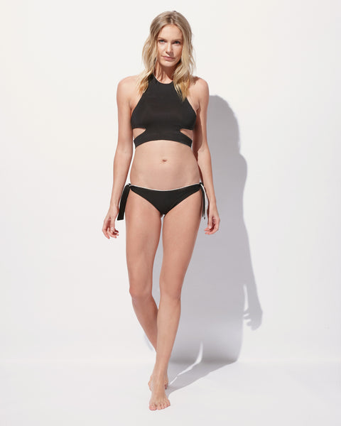 Ellen High Neck Crop Bikini Top