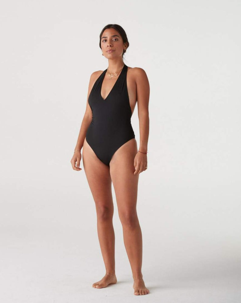 Holly T Back Halter One Piece