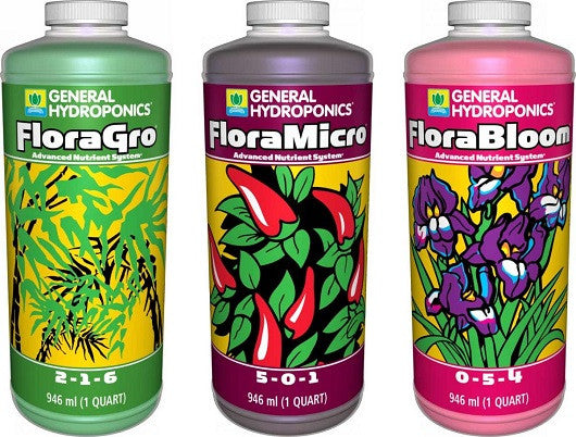 GH FloraGro, FloraMicro, and FloraBloom