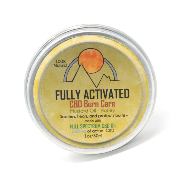 Fully Activated Full Spectrum CBD Salve burn care ships to all fifty states