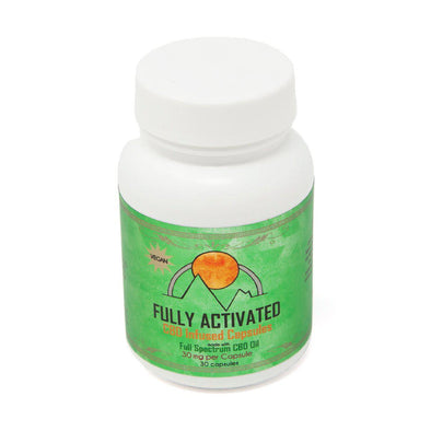 Fully Activated Full Spectrum CBD Capsules.  Delivery to all fifty states