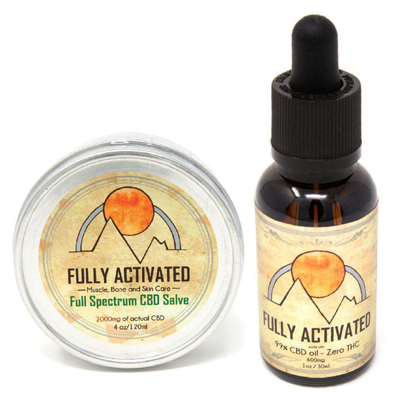 Full Spectrum 4oz Salve & Pure CBD Oil Combo