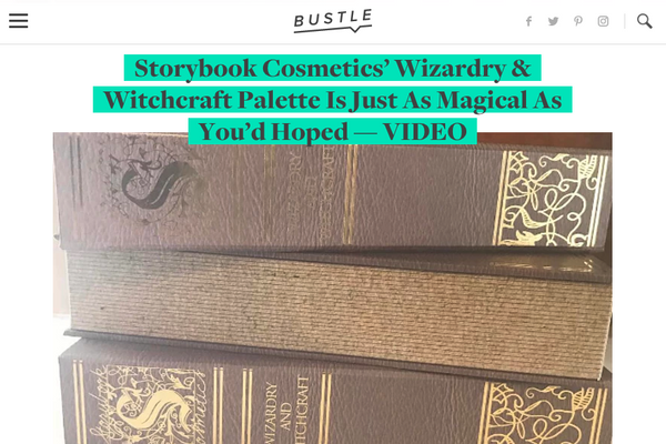 Storybook Cosmetics' Wizardry & Witchcraft Palette Is Just As Magical As You'd Hoped: Bustle Feature