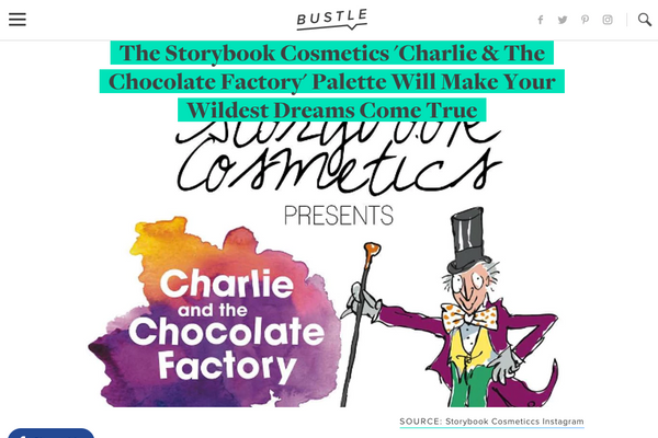 The Storybook Cosmetics 'Charlie & The Chocolate Factory' Palette Will Make Your Wildest Dreams Come True: Bustle Feature