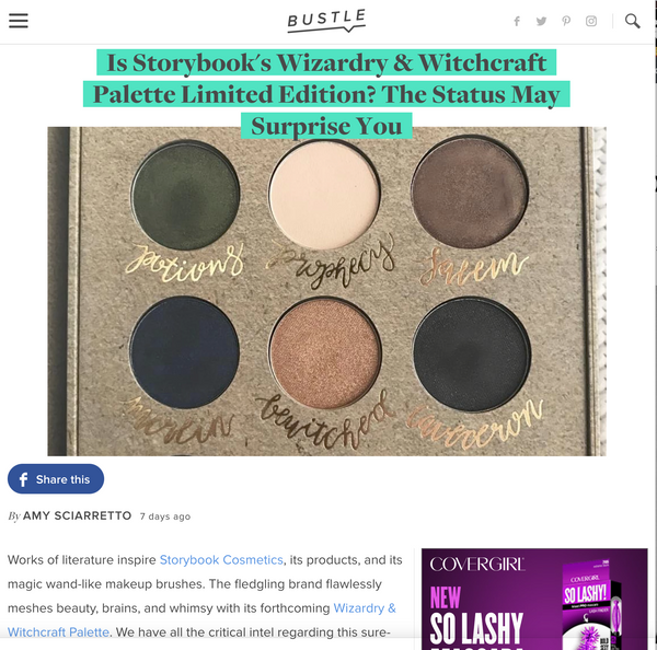 Is Storybook's Wizardry & Witchcraft Palette Limited Edition? The Status May Surprise You: Bustle Feature