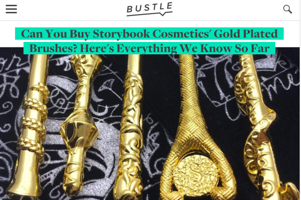 Can You Buy Storybook Cosmetics' Gold Plated Brushes? Here's Everything We Know So Far: Bustle Feature