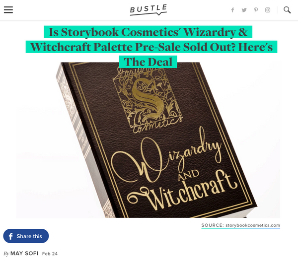 Is Storybook Cosmetics' Wizardry & Witchcraft Palette Pre-Sale Sold Out? Here's The Deal: Bustle Feature