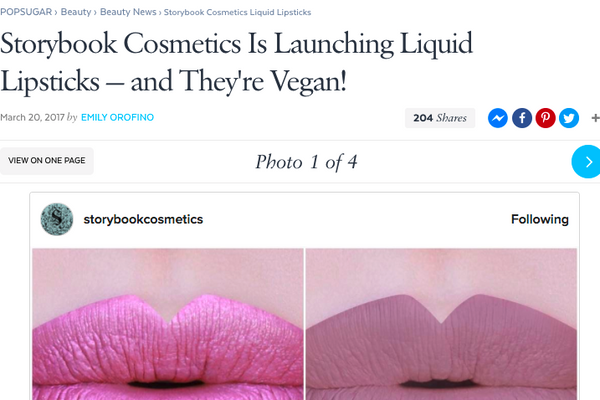Storybook Cosmetics Is Launching Liquid Lipsticks — and They're Vegan!: Popsugar Feature