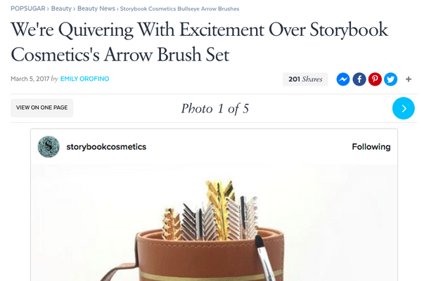We're Quivering With Excitement Over Storybook Cosmetics's Arrow Brush Set: Popsugar Feature