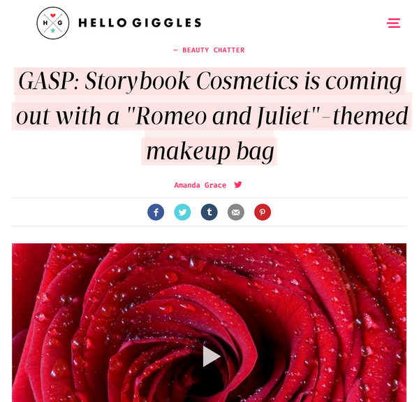 GASP: Storybook Cosmetics is coming out with a