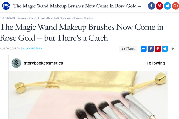 The Magic Wand Makeup Brushes Now Come in Rose Gold — but There's a Catch: Popsugar Feature