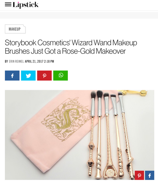 Storybook Cosmetics' Wizard Wand Makeup Brushes Just Got a Rose-Gold Makeover: Glamour Feature