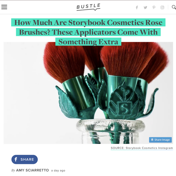 How Much Are Storybook Cosmetics Rose Brushes? These Applicators Come With Something Extra: Bustle Feature