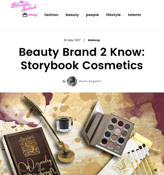 Beauty Brand 2 Know: Storybook Cosmetics: The Blonde Salad Feature