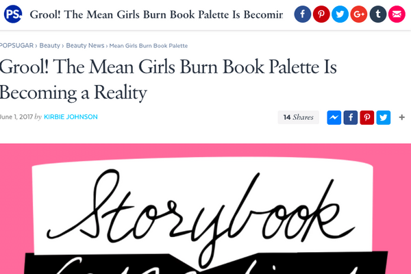 Grool! The Mean Girls Burn Book Palette Is Becoming a Reality: Popsugar Feature